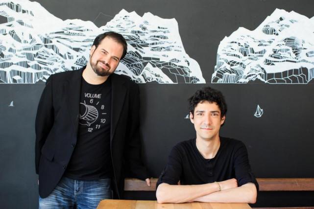 FrançoisTousignant (à droite), directeur du Minifest, etCharlesThompson-Leduc, directeur... (Photo Edouard Plante-Fréchette, La Presse)