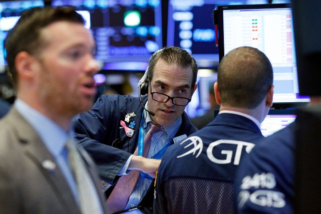 Après un début de séance sur une note positive mercredi, la Bourse de New York... (PHOTO REUTERS)