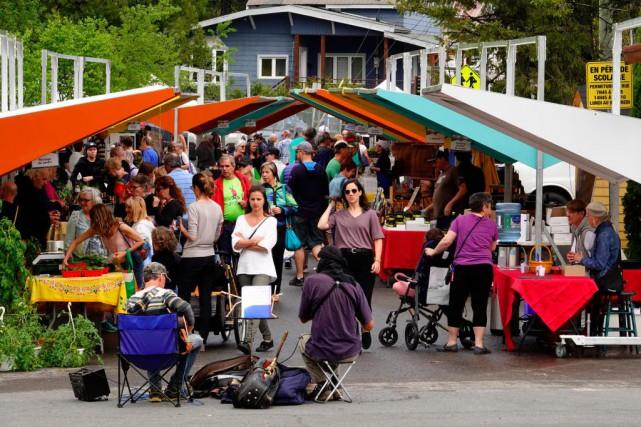 Fondé il y a 18ans, le marché de... (Photo Bernard Brault, La Presse)