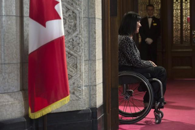La sénatrice et championne paralympique ChantalPetitclerc réclame également... (Photo Adrian Wyld, archives La Presse canadienne)