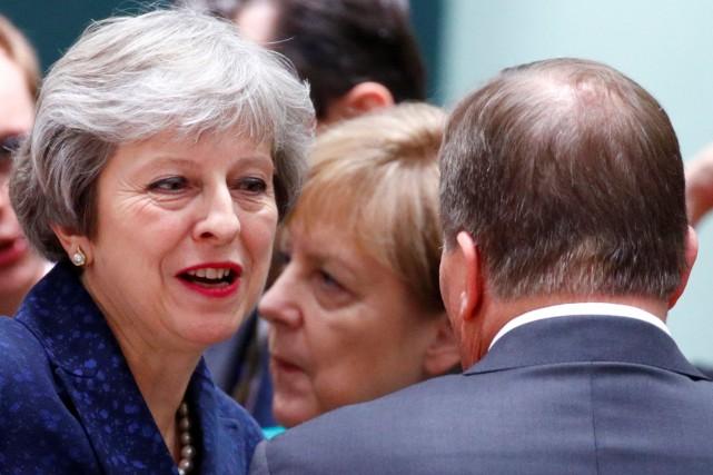 Theresa May à son arrivée au sommet de... (Photo François Lenoir, REUTERS)