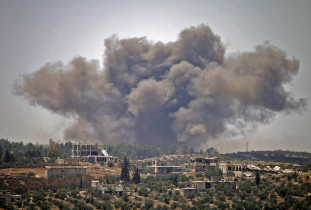 Des dizaines de raids aériens ont été imputées... (PHOTO MOHAMAD ABAZEED, AGENCE FRANCE-PRESSE)