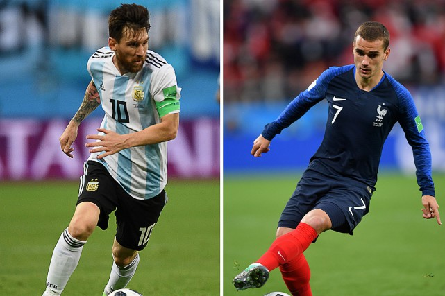 L'Argentine de Lionel Messi affrontera la France d'Antoine... (PHOTOS ARCHIVES AGENCE FRANCE-PRESSE)