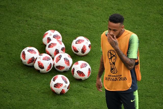 Neymar pendant un entraînement.... (AFP)