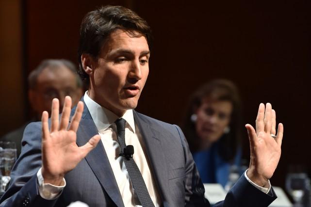 Justin Trudeau a rappelé les liens étroits qui... (archives AFP)