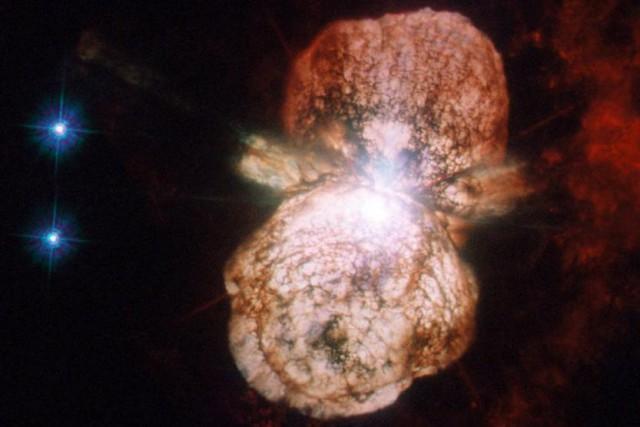 Le«fusil à rayons cosmiques»Eta Carinae est un système... (photo fournie par la NASA)