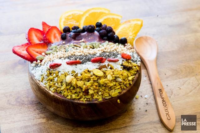 L'été, c'est chouette de manger de la salade... (Photo Marco Campanozzi, La Presse)
