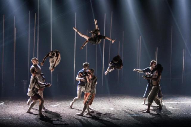 Tant qu'il y a de la vie, il y a de... l'acrobatie, pourrait-on dire. C'est un... (Photo Alexis Aubin, collaboration spéciale)