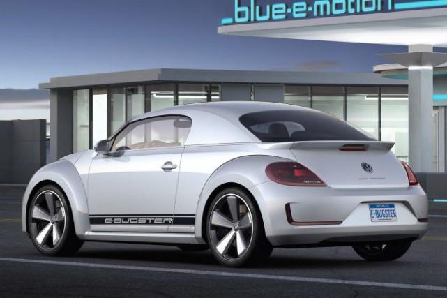 Volkswagen avait présenté l'E-Bugster --un prototype électrique basé...