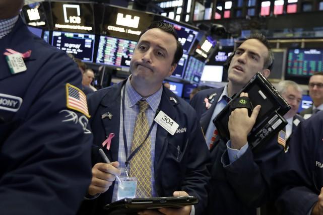 Le NASDAQ, à forte composante technologique, a perdu... (PHOTO ARCHIVES AP)