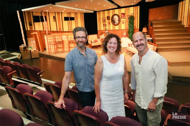 Trois des quatre fondateurs du Petit Théâtre du... (PHOTO ROBERT SKINNER, LA PRESSE)
