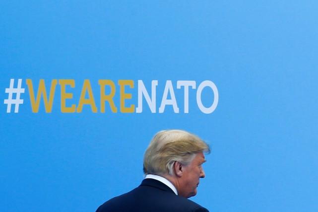 Le président américain, Donald Trump... (PHOTO Darrin Zammit Lupi, REUTERS)