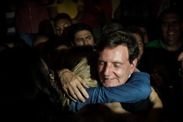 Le maire dede Rio de Janeiro,Marcelo Crivella,ex-pasteur et... (PHOTO YASUYOSHI CHIBA, archives Agence france-presse)