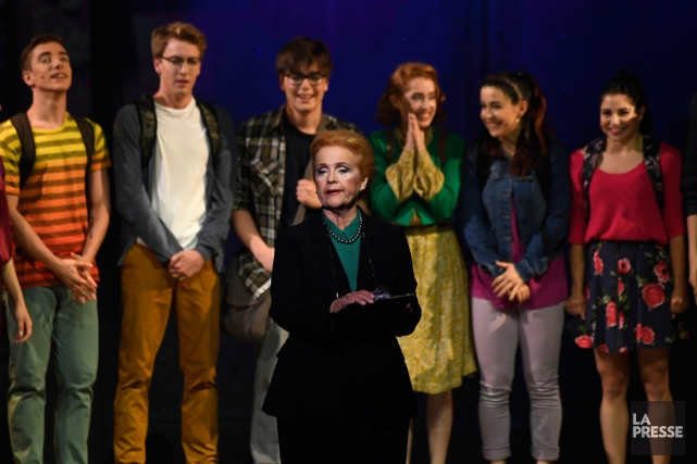 Marie Denise Pelletier (à l'avant-plan) dans une scène... (Photo Bernard Brault, archives La Presse)