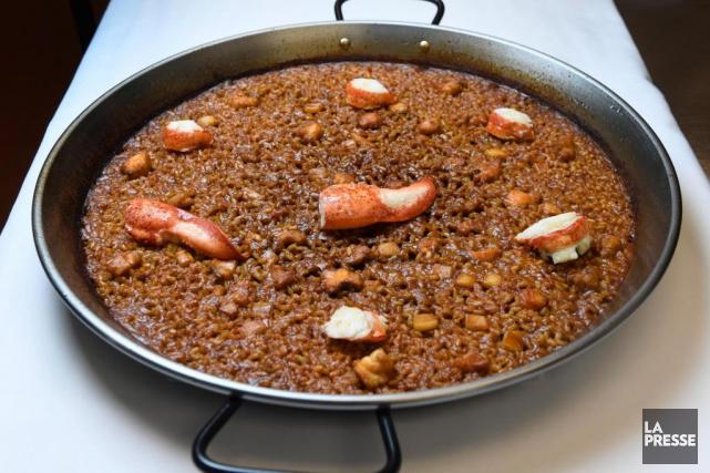 Paella aux fruits de mer... (Photo Bernard Brault, La Presse)