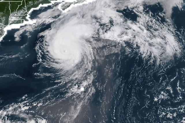 Chrisest devenu mardi, aprèsBeryl, le deuxième ouragan de... (PHOTO AFP/Agence américaine d'observation océanique et atmosphérique)