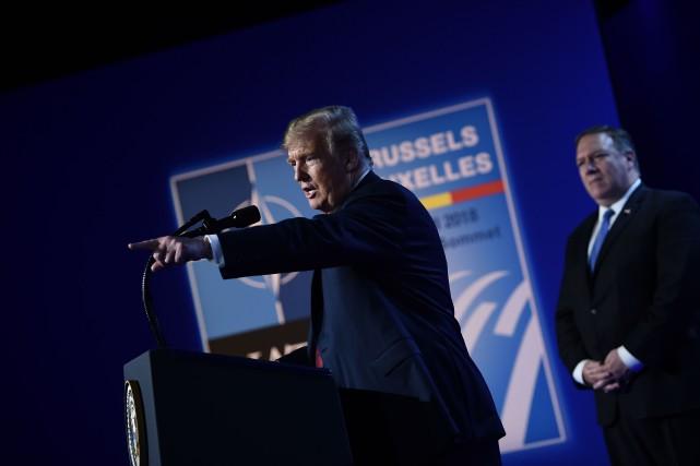 Donald Trump s'est félicité du réinvestissement de 33... (AFP)