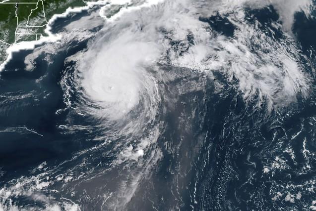 Environnement Canada indique que la pluie, les vents... (PHOTO NOAA RAMMB, Agence france-presse)