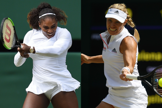 Serena Williams et Angelique Kerber... (Photos AFP)