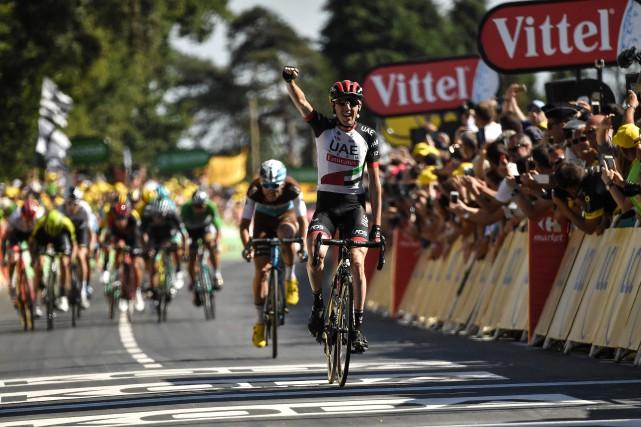 L'Irlandais Dan Martin a remporté la sixième étape... (Photo Marco Bertorello, AFP)