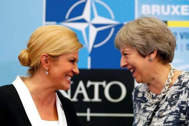 Selon la présidente croate Kolinda Grabar-Kitarovic, qu'on voit... (PHOTO REUTERS)