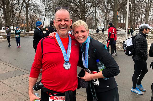 Le 4 mars dernier, Jean Robitaille participait au demi-marathon hypothermique... (Photo : Collection personnelle)