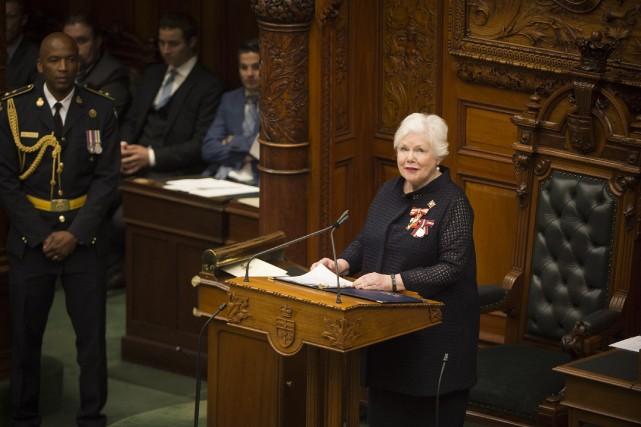 Lediscours du Trône du nouveau gouvernementprogressiste-conservateur de l'Ontario... (PHOTO PC)