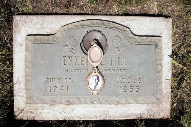 La tombe d'Emmett Till, dans le cimetièreBurr Oak... (AFP)