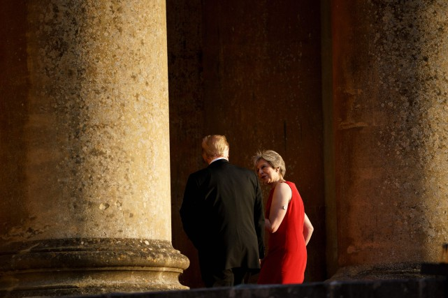 Le président à tenu ces props dans une... (Photo Brendan Smialowski, AFP)