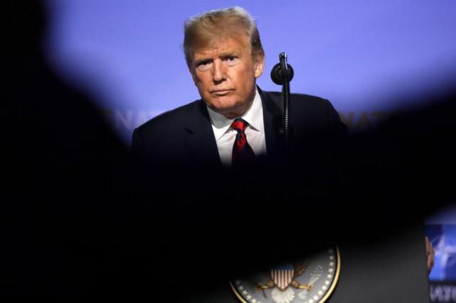 Lors du sommet de l'OTAN, le président américain... (Photo Olivier Matthys, Associated Press)