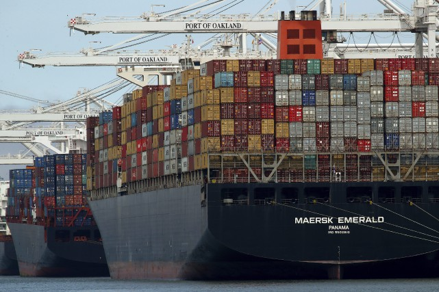 Les exportations chinoises vers les États-Unis ont gonflé... (photo Ben Margot, AP)