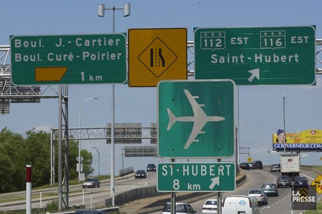 Un tronçon de la route de l'aéroport de... (Jean Goupil, archives La Presse)