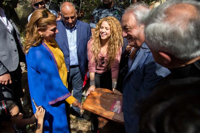 Shakira s'est rendue vendredi dans le village natal...
