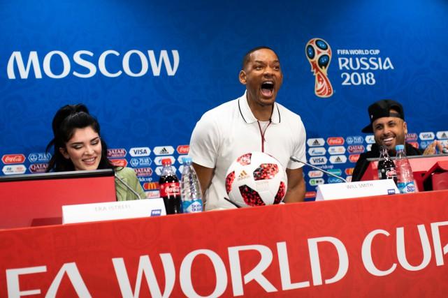 La chanteuse albanaise Era Istrefi, l'acteur Will Smith... (Photo AP)