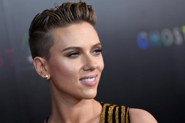 Scarlett Johansson à la première de Ghost in... (Photo archives AP)