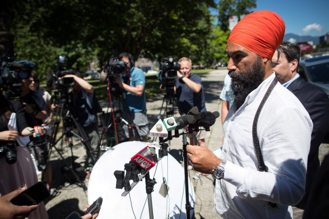 Jagmeet Singh... (PHOTO LA PRESSE CANADIENNE)