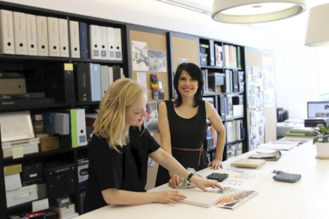 Elsa Vincent (à droite), fondatrice propriétaire d'IDEA |... (Photo fournie par IDEA)