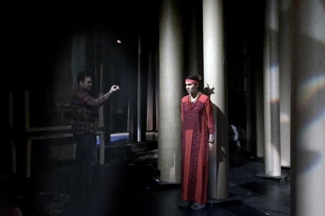Le spectacle Kanata en répétition au Théâtre du... (PHOTO DAVID LECLERC, TIRÉE DU SITE DU THÉÂTRE DU SOLEIL)