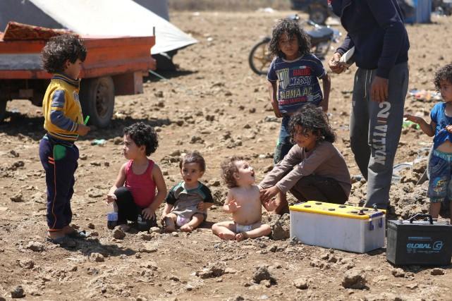 Ce chiffre inclut plus de 600 enfants tués... (Photo Alaa Al-Faqir, Reuters)