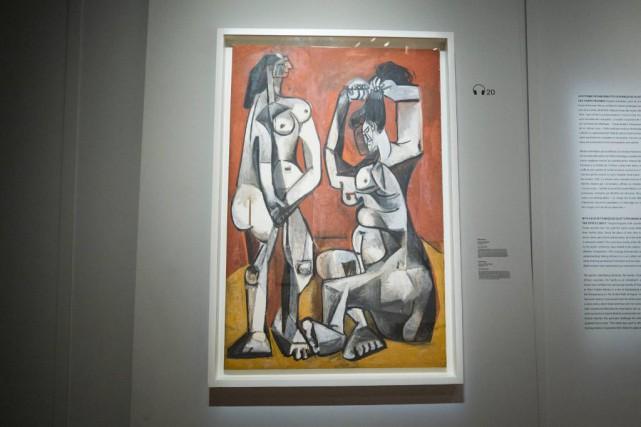 Femmes à la toilette, 1956, PabloPicasso (1871-1973), huile... (Photo PatrickSanfaçon, La Presse)