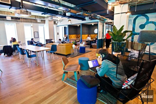 L'entreprise WeWork a récemment annoncé qu'elle n'offrirait plus... (Photo Patrick Sanfaçon, Archives La Presse)