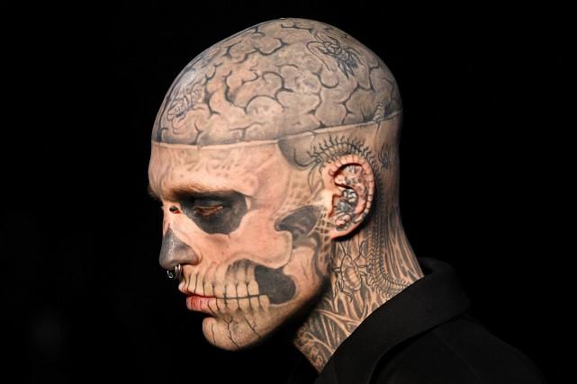 Rick Genest, alias Zombie Boy, était reconnu pour... (PHOTO FRANÇOIS GUILLOT, ARCHIVES AGENCE FRANCE-PRESSE)