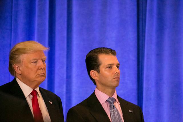 Trump admet que son fils cherchait des infos sur Clinton auprès d'une Russe