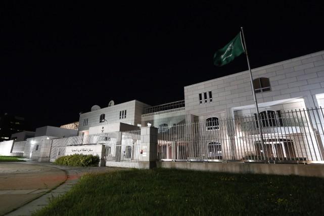 L'ambassade d'Arabie saoudite au Canada, à Ottawa.... (Photo David Kawai, La Presse canadienne)