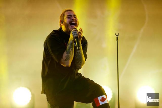 Le rappeur à forte saveur pop Post Malone... (Photo MartinChamberland, La Presse)