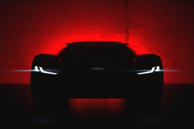 La PB 18 e-tron rend hommage au bolide... (Photo fournie par Audi)