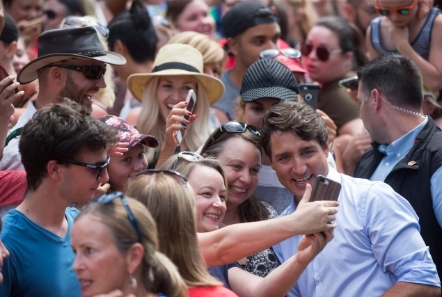 Justin Trudeau a célébré la Journée de la Colombie-Britannique, lundi, en... (PHOTO PC)