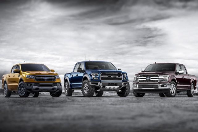 Ces trois pickups Ford pourraient bientôt avoir un... (Photo Ford)