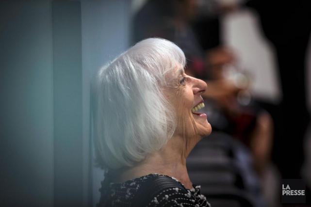 MadeleineArbour éclate de rire, le 13juin dernier, lors... (Photo Olivier Jean, La Presse)