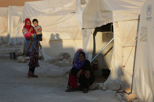 La province d'Idleb, qui longe la frontière turque,... (Photo Khalil Ashawi, Reuters)